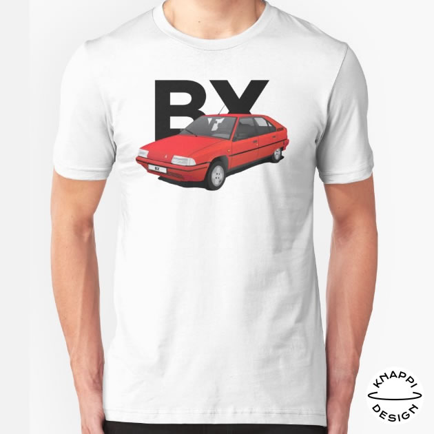 New Citroën BX t-shirt with text, red