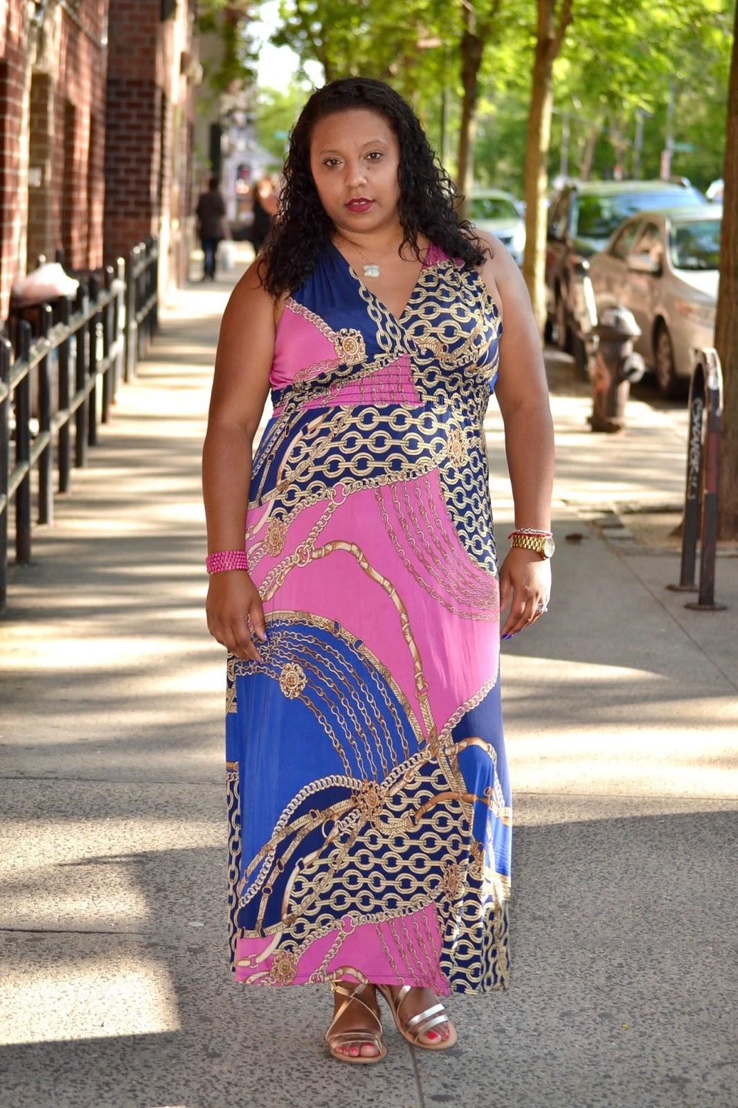 Maxi multi colored dress