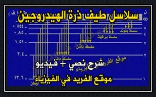 سلاسل طيف ذرة الهيدروجين، سلسلة ليمان، سلسلة بالمر ، سلسلة باشن ، براكيت، بفوند، سلاسل الطيف الهيدروجيني، أقصر وأطول طول موجي، مستويات ذرة الهيدروجين، دروس فيزياء الصف الثالث الثانوي ، منهج اليمن