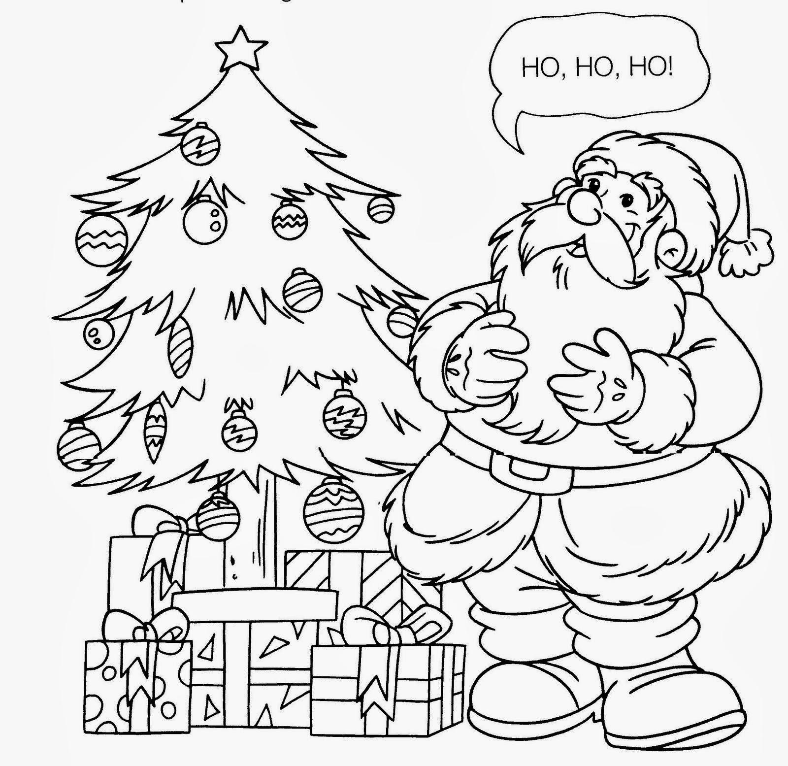 Pintando E Colorindo Colorir Papai Noel Desenhos De Natal