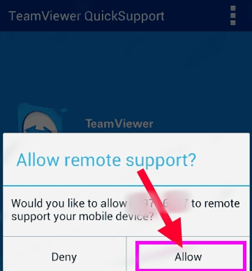 Quick support notification allow kare