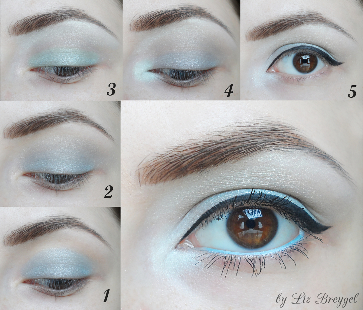 blue makeup step by step tutorial, makeup for blue eyes