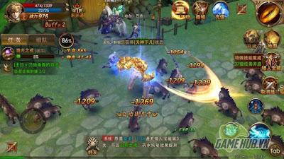 combat trong game
