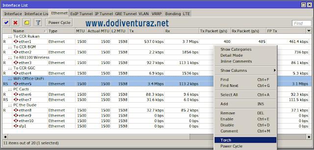 Cara Memantau Traffic Pemakaian Internet Client Per IP di Mikrotik