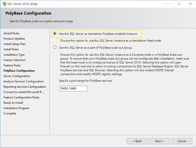 SQL Server - PolyBase Configuration