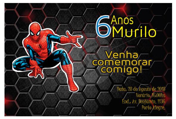 convites aniversario homem aranha 11 - Convites de Aniversário do Homem Aranha