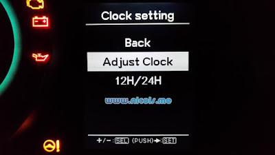 Adjust Clock MID Suzuki Ignis 2017