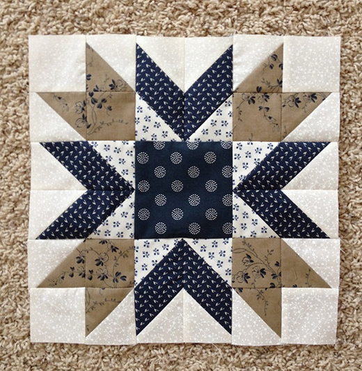 Blueberry Pie Block Free Pattern