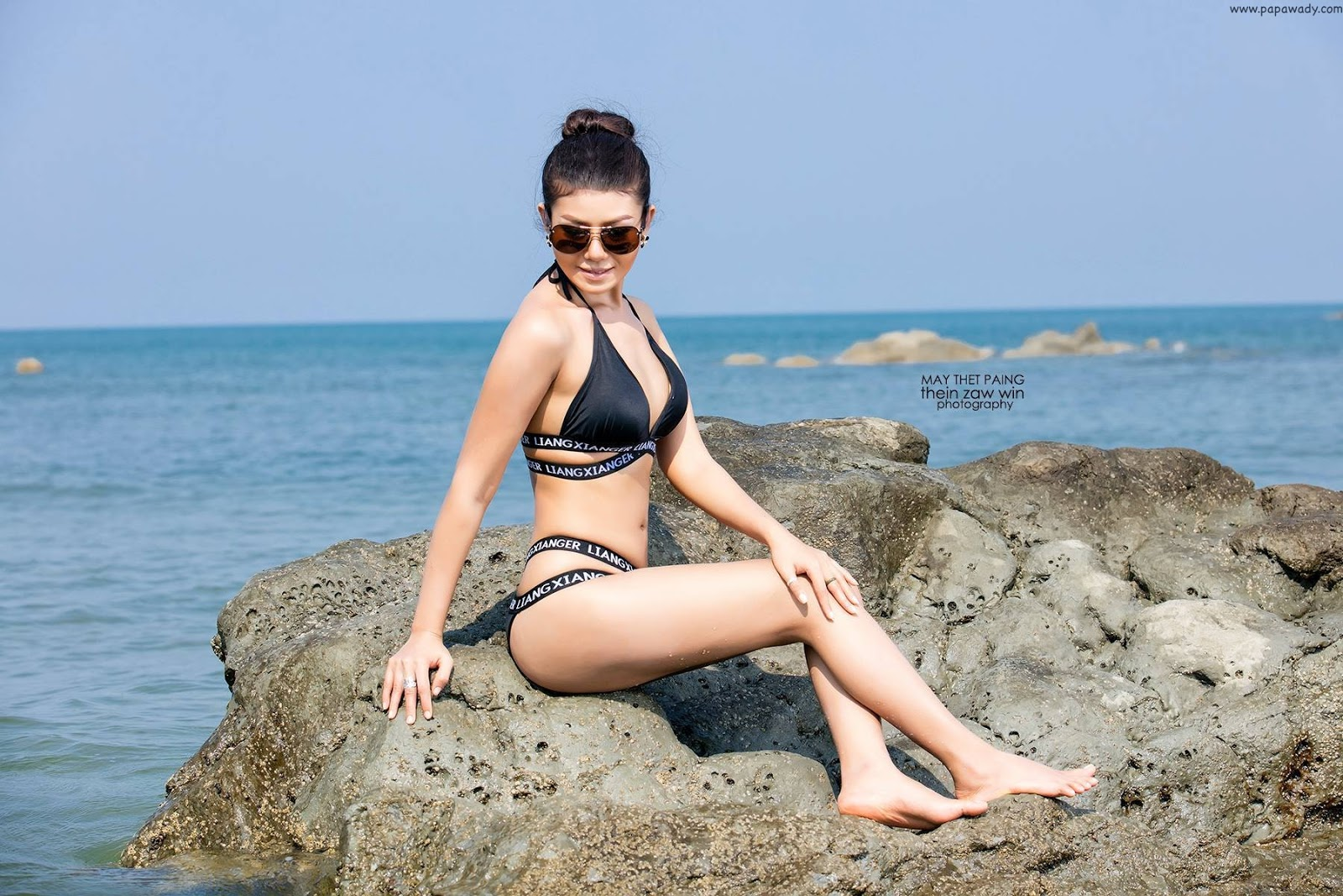 May Thet Paing Calendar Photoshoot At The Beach