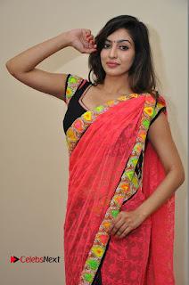 Actress Vaibhavi Joshi Pictures in Red Saree at Guntur Talkies 2 Movie Opening  0056.JPG
