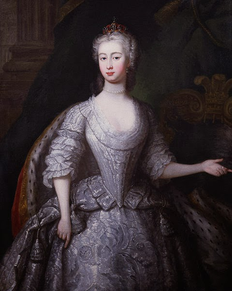 Augusta of Saxe-Gotha, Princess of Wales by Charles Philips, 1736