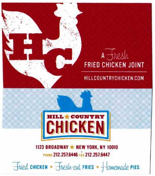 HILL COUNTRY CHICKEN - e a t e r y R O W