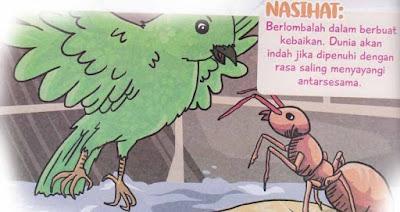 semut yang terperangkap di sumur