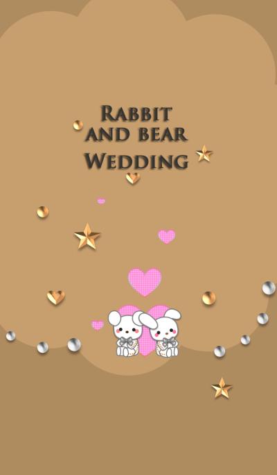 Rabbit and bear<Wedding>