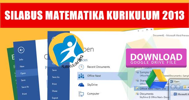 [Lengkap] File Silabus MTK / Matematika K13 Revisi Terbaru Semua Jenjang / Kelas