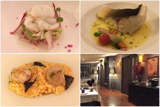 Pescados y marisco – Sala de restaurante del Real Balneario de Salinas en Asturias
