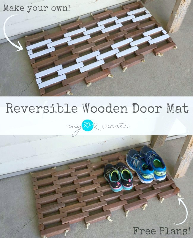 Reversible Wooden Door Mat, MyLove2Create