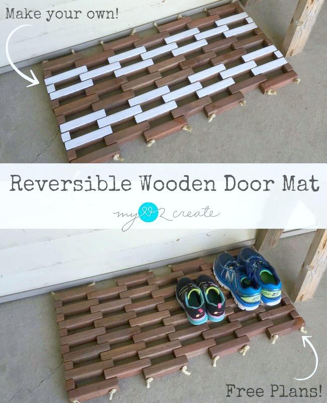 Reversible Wooden Door Mat | My Love 2 Create