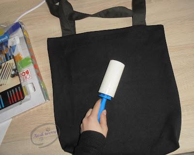 """Adzik tworzy - handmade torba materiałowa z psem """"I can't keep calm"""""""