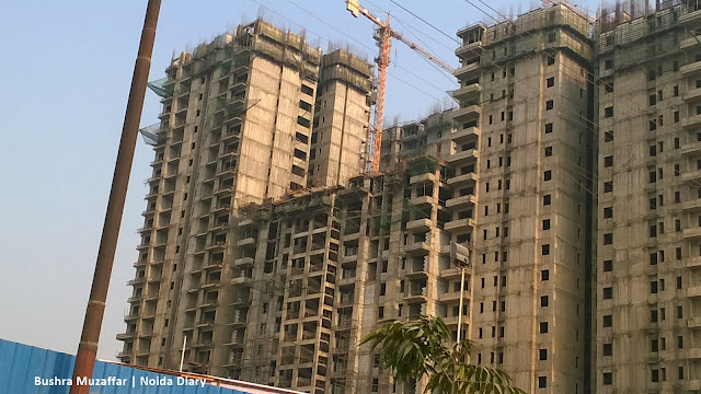 Noida Diary: Construction Site at Wave City Center, Sector 32, Noida