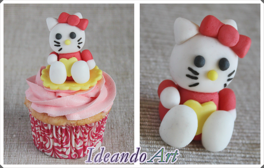 Cupcake de nubes con Kitty