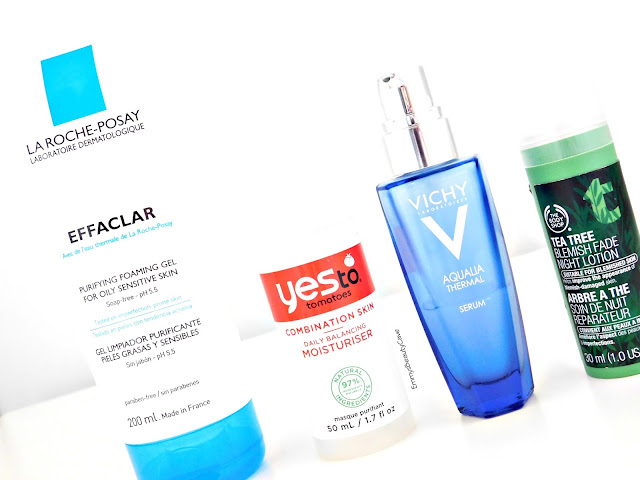 La Roche-Posay Skincare, Vichy Aqualia Thermal Serum, Yes To Tomatoes Daily Moisturiser, Body Shop Tea Tree Night Lotion