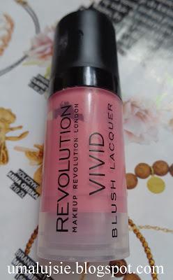 Makeup Revolution róż w płynie VIVID BLUSH LACQUER RUSH