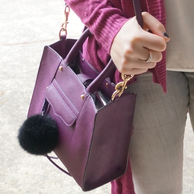 Rebecca Minkoff mini MAB tote in plum | AwayFromTheBlue