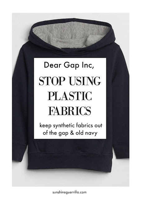 Dear Gap Inc. Stop Selling Plastic Clothes!