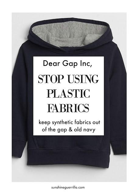 Dear Gap Inc. Stop Selling Plastic Clothes!