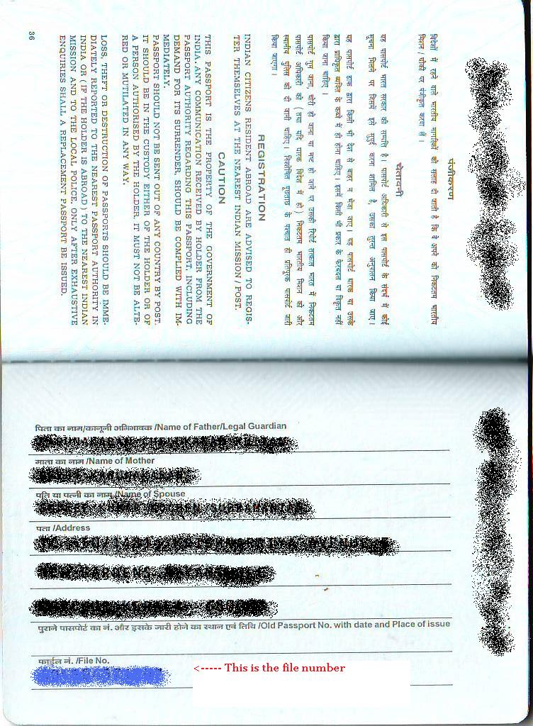 Sudeep\u0027s BLOG Getting A Duplicate Indian Passport In Lieu Of A Lost - lost passport form