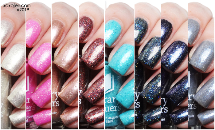 xoxoJen's swatch of Literary Lacquers  A Court of Feels and Sparkle Collection