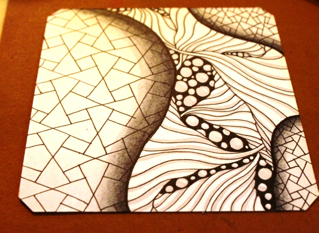 eaxy zentangle shaded