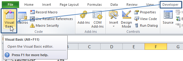 cara menampilkan jendela visual basic