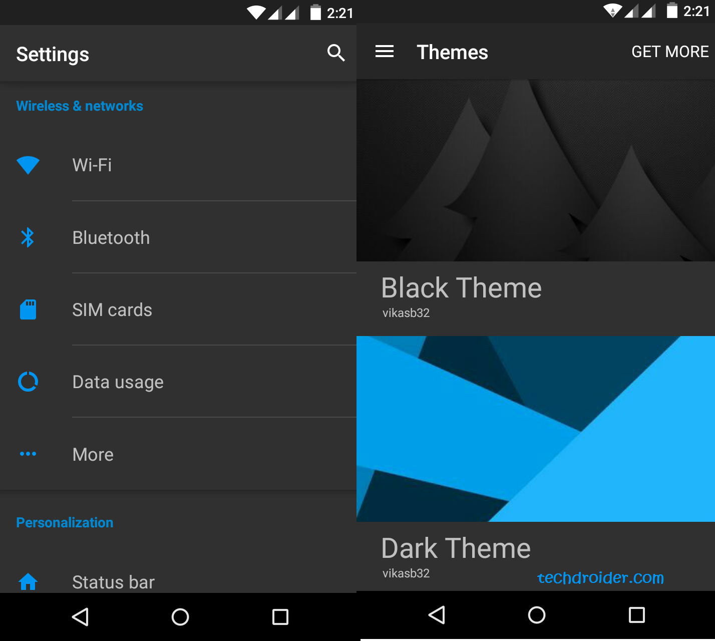 Blue Dark Material , Cm12 theme