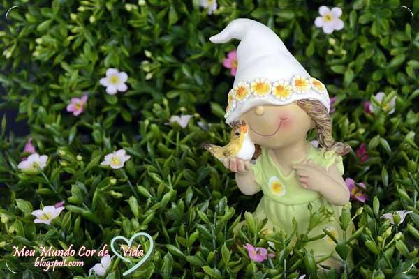 enfeite de jardim