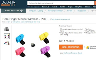 finger mouse wireless lazada