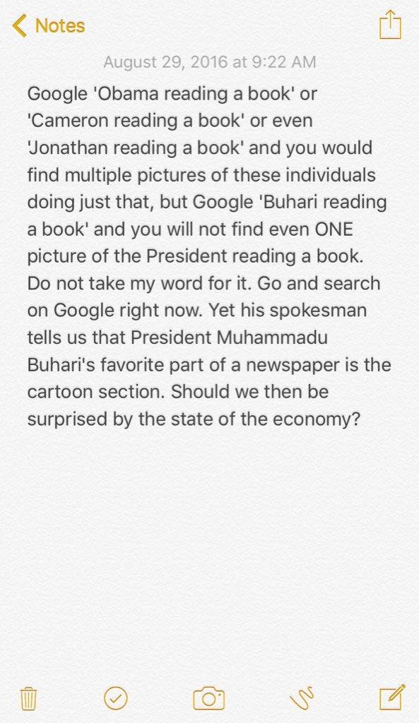 Reno Omokri shades Buhari again, says Nigerians should do this
