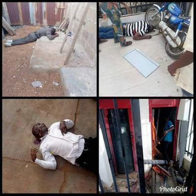 More graphic photos from the bank robbery incident in Offa, Kwara State