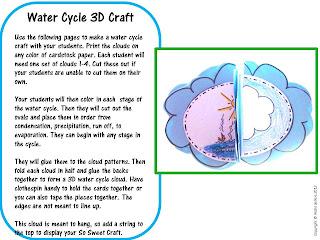 Sweet Tea Classroom: 3-D Water Cycle Craft