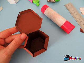 come montare una scatolina vaso di carta fai da te