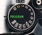 mode dial Canon AE-1 Program