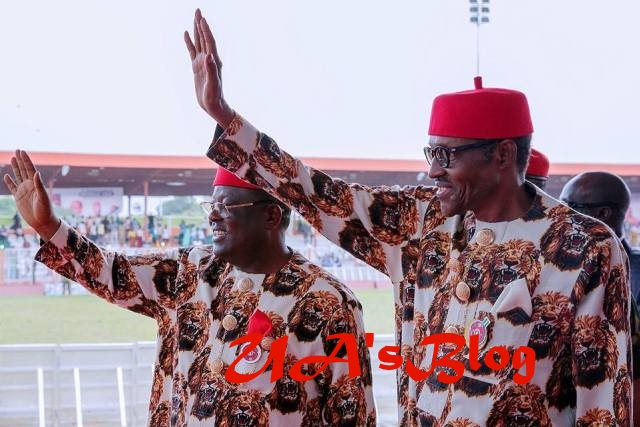 2019: Umahi Thanks APC, Buhari For Conceding Defeat In Ebonyi