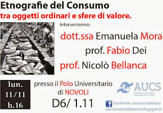 AUCS Firenze Etnografie del consumo tra oggetti ordinari