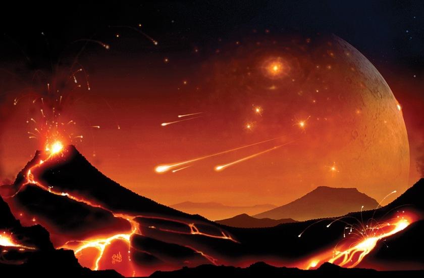 Meteorite shower