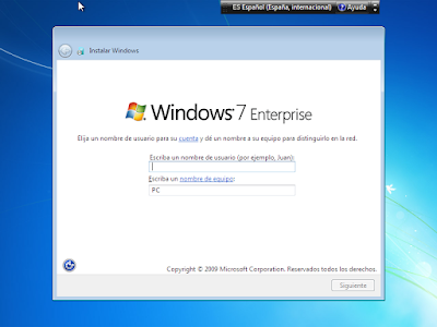 nombre de usuario windows 7