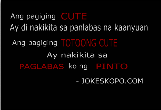 Joke Quotes Tagalog Sweet: Funny Quotes