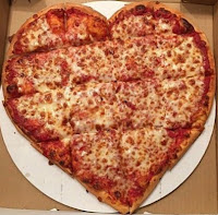 heart shaped cheese pizza love Valentine's Day romantic date idea DIY