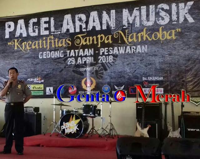 Perangi Narkoba, Komunitas Musik Pesawaran Tunjukan Kretifitas Tanpa Pil Gedeg