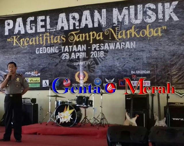 Perangi Narkoba, Komunitas Musik Pesawaran Tunjukan Kretivitas Tanpa Pil Gedeg